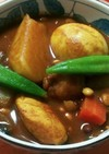 お豆ごろごろ&おからボールのカレースープ
