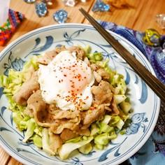 ガッツリ食べちゃって♪豚バラのスタミナ焼