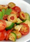 オリーブキムチと夏野菜の簡単サラダ