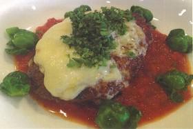 シカ肉のハンバーグ トマト&チーズ