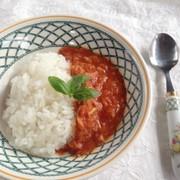 洗い物なしポリ袋料理『ツナトマト』の写真