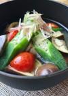 夏野菜とみょうがの味噌汁