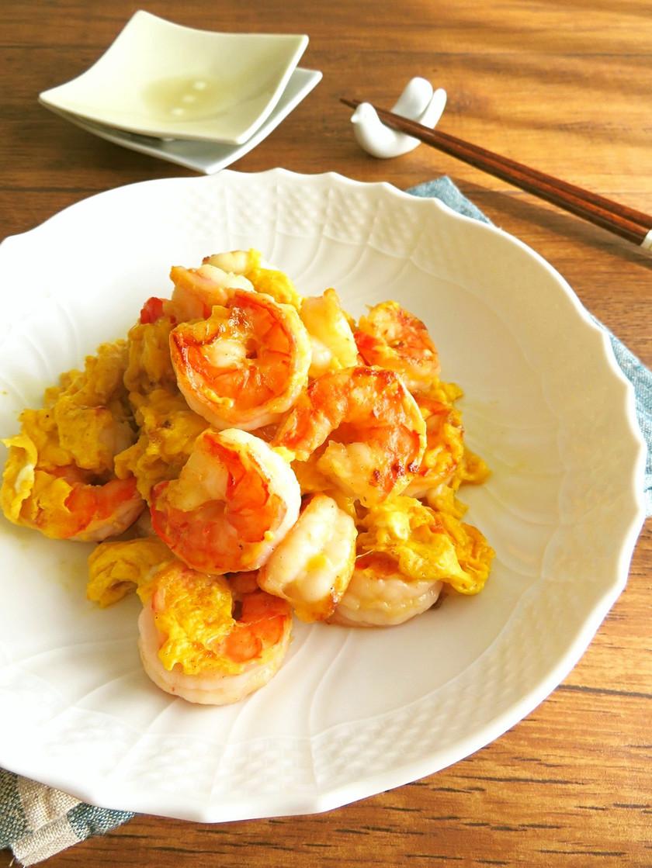 簡単☆お弁当にも♪海老と卵のバター醤油