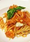 モッツァレラチーズとトマトのスパゲッティ