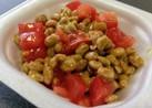 トマト納豆食べ方☝アレンジサラダデザート