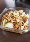 サバの味噌煮缶とキャベツの納豆炒め♥
