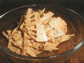 タケノコでメンマを作る