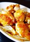 鶏もも肉焼き~柚子胡椒ステーキソースがけ