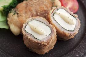 肉巻き豆腐のチーズ味噌カツ