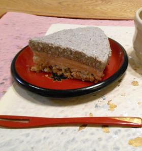 黒ゴマきなこのお豆腐レアチーズケーキ