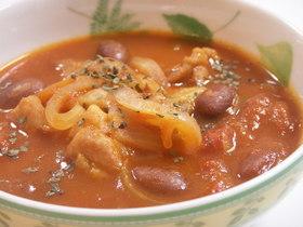 簡単!チキンと金時豆のトマト煮
