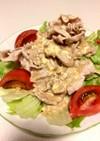 簡単!水菜とレタスの冷しゃぶサラダ