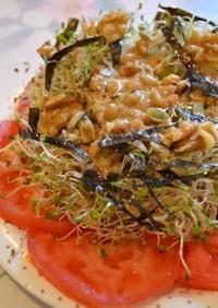 アルファルファと納豆のサラダ