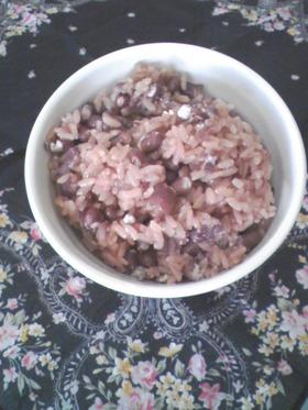 50分で小豆たっぷり簡単赤飯作りましょ♪