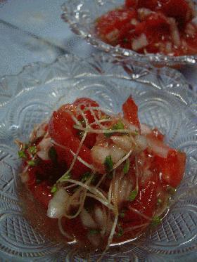 完熟トマトの即席マリネ