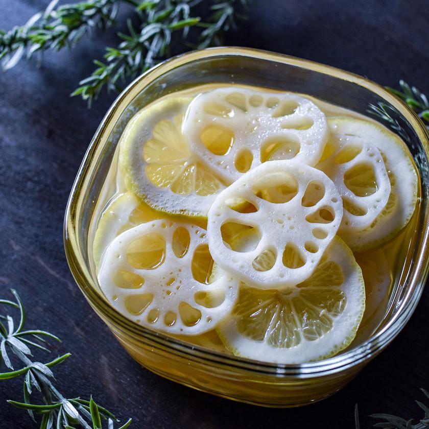 蓮根の蜂蜜レモン漬け◎漬け汁も活用♪