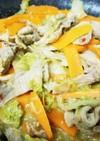 白菜と豚肉のピリ辛味噌炒め☆