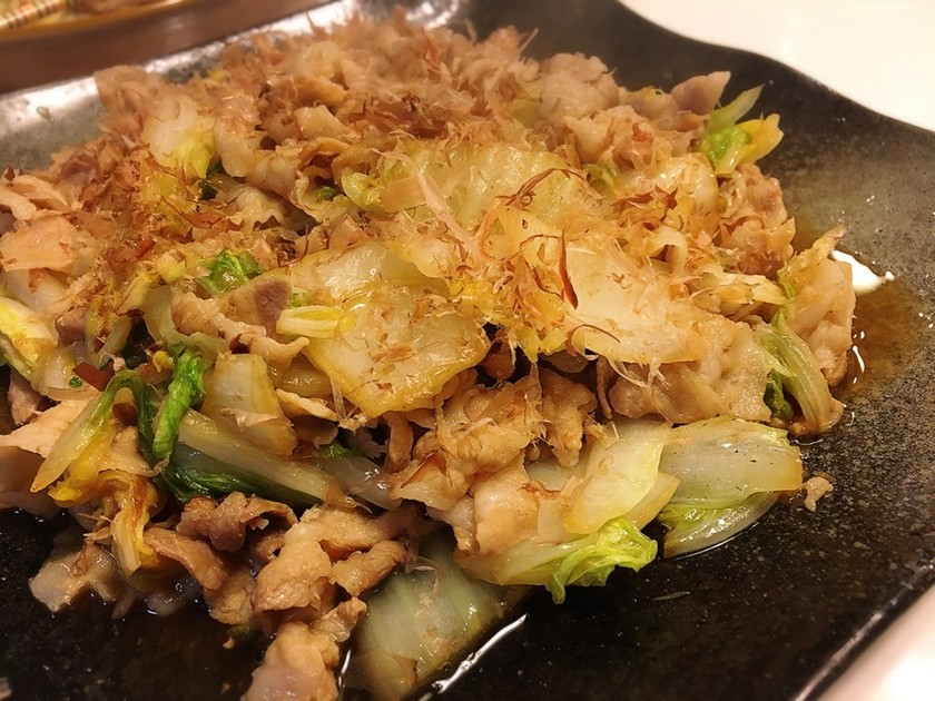 簡単手間なし☆白菜と豚バラ肉のおかか炒め