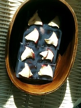 黒豆とそば粉で和菓子☆ツルツル寒天