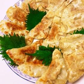 鯖缶と豆腐でヘルシー餃子
