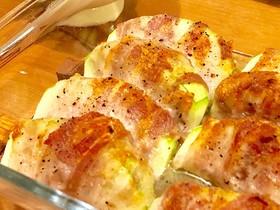 丸ズッキーニの豚バラ巻きグリル