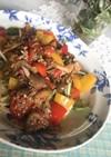 夏野菜の冷製パスタ。