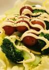 レタスと塩ゆでブロッコリーのマヨサラダ