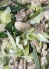 鶏肉とキャベツの塩炒め