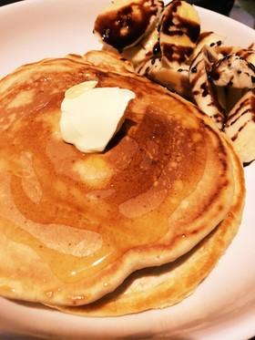 小麦粉で作るココア香るホットケーキ