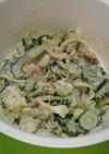 ゴーヤと白菜(or 大根)とツナのサラダ