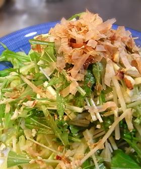 水菜と大根のナッツサラダ