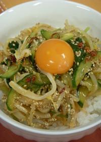韓国風イカ刺丼