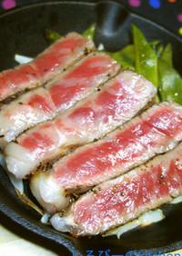ハンバーグ職人のステーキの焼き方(湯煎)