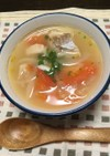 スペイン風♪タラのニンニク塩麹スープ!
