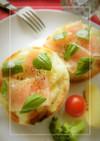 蒸し玉葱×生ハムのトースト
