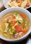 トマトとレタスのサッパリ!ピリ辛スープ
