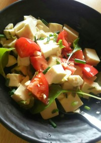 ダイエットにも!お豆腐の満腹サラダ