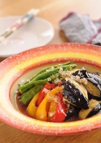 きび酢がポイント!夏野菜の揚げ浸し