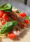 海老とトマトの冷製パスタ