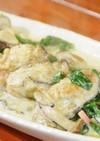 ほうれん草とアスパラと長寿牡蠣クリーム煮