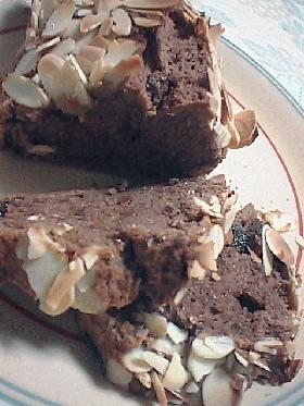 大人のチョコアーモンドパウンドケーキ