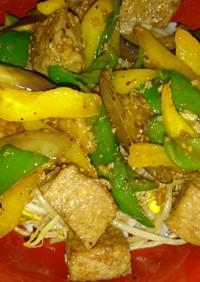 夏野菜のサイコロステーキ丼