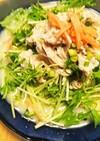 冷たい!水菜と豚のバリバリラーメン!