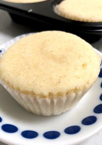 小麦粉不使用。もちもち♡おから蒸しパン
