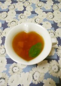 にんにくとトマトのスープ