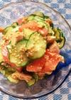 トマトと胡瓜とツナのさっぱり中華サラダ