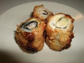 豚肉の海苔チーズ巻きフライ
