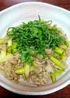 豚肉とアスパラと玉ネギの梅だれ炒め