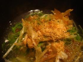 寒い日に~豆腐の水菜あんかけ