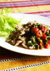 ラム肉の檸檬塩麹焼き*トマト韮醤ソース